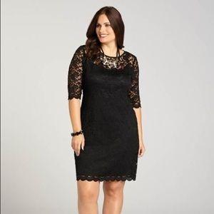 Laura Black Lace Dress